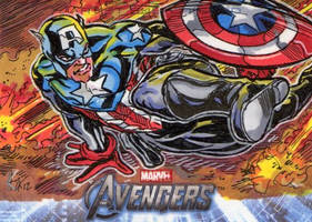 Avengers Cards: Bucky Cap by ElvinHernandez