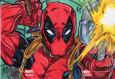 Marvel Now! Deadpool Double card by ElvinHernandez