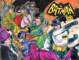 Batman 66 cover color by ElvinHernandez