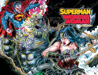 Superman Wonder Woman color001lowres by ElvinHernandez