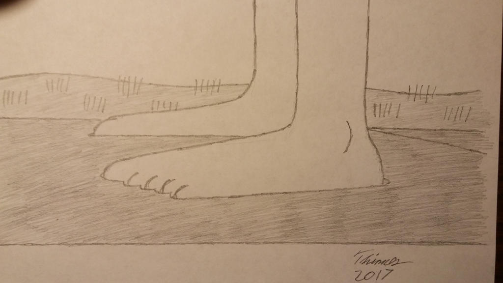 Girl Feet In Wet Cement by EThinnes