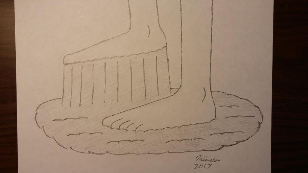 Girl Feet Stuck In Glue by EThinnes