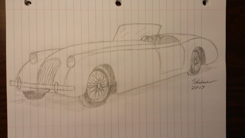 Jaguar roadster sketch by EThinnes