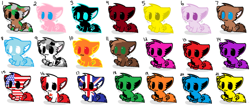 Mini Paw Paw Adoptables - NEWLY REDUCED by banana74123