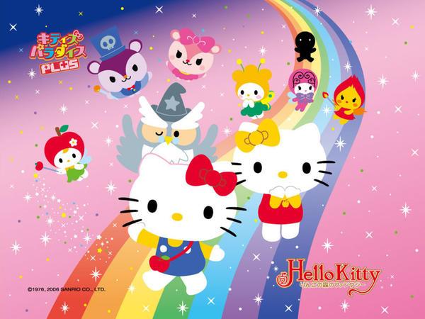 Hello Kitty Rainbow Slide by HelloKittysFanClub