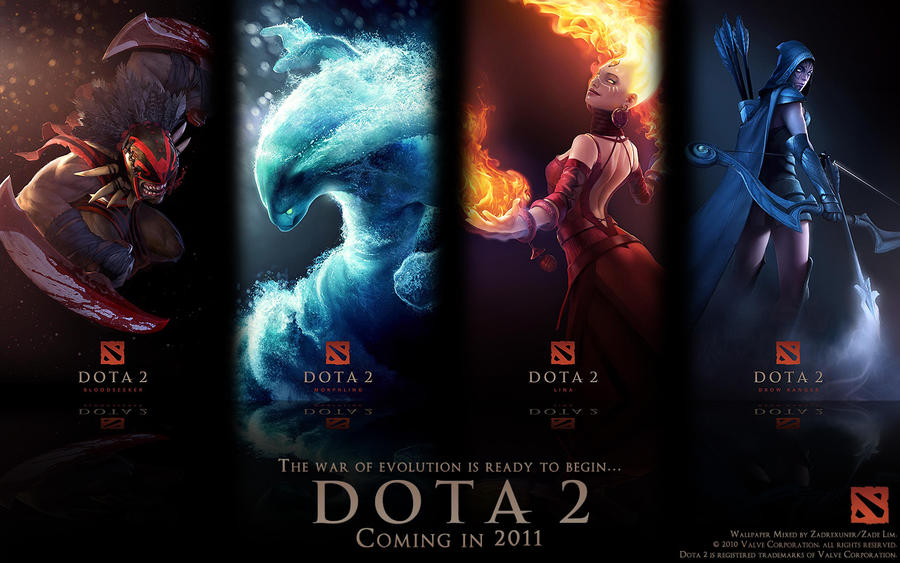 DotA 2 Wallpaper 1280x800 By Zadelim