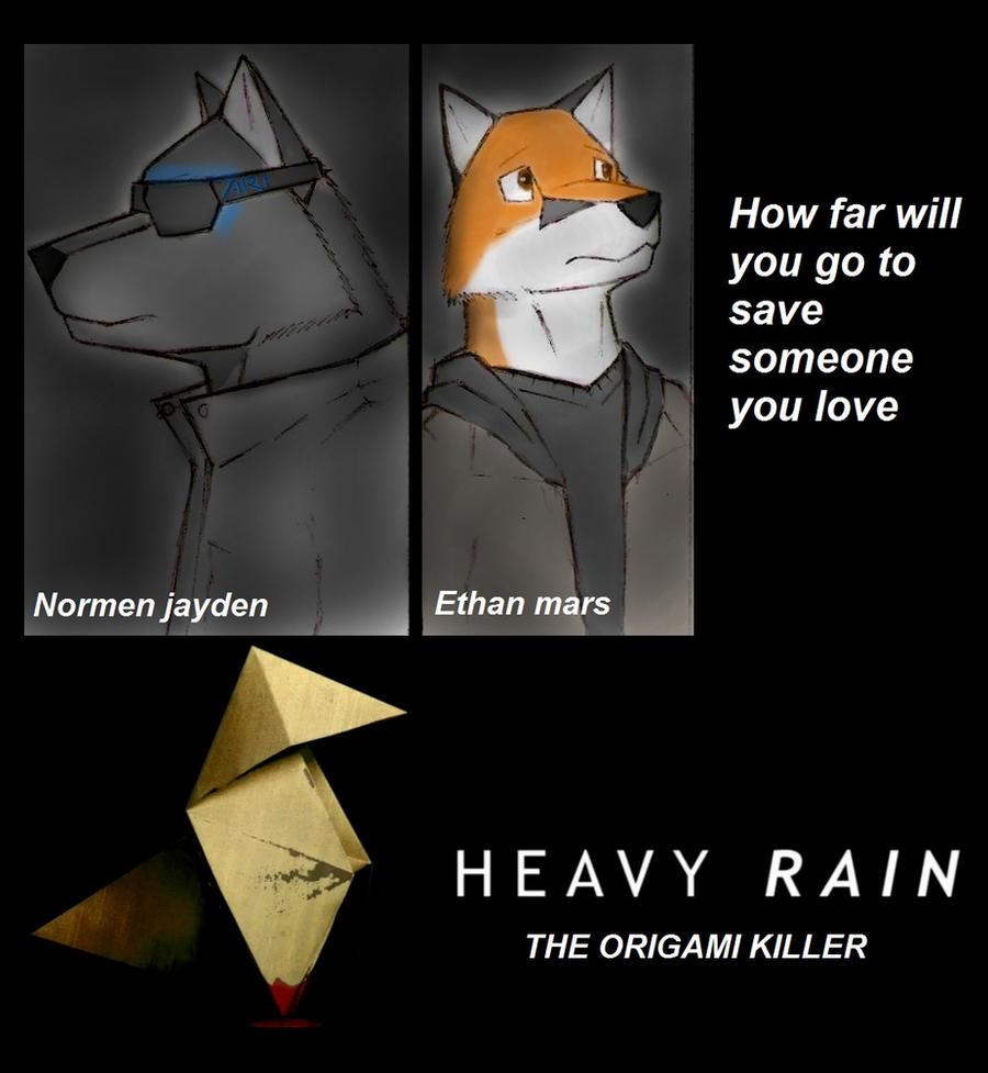 HEAVY RAIN anthro poster by topgae86turbo