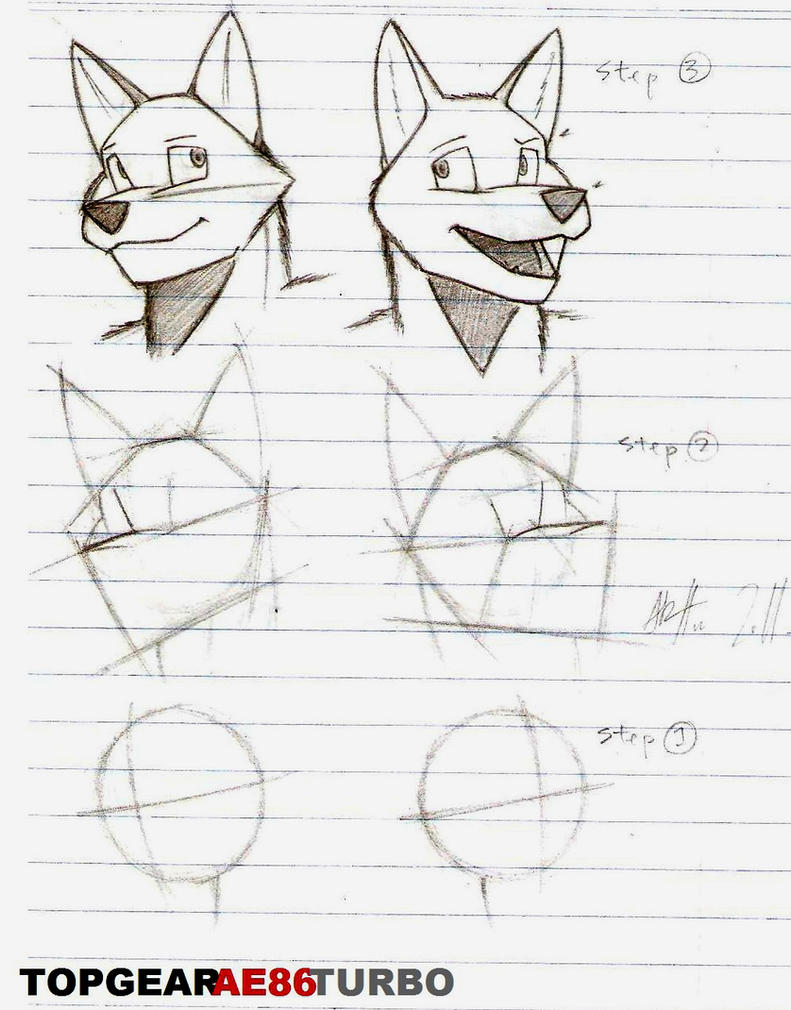 Anthro Wolf Tutorial Anthro Tutorial my Style by