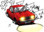 Drifting Lada Riva