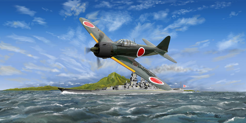 Niels Tieland Mitsubishi A6M zero flyby by NLS61 on DeviantArt