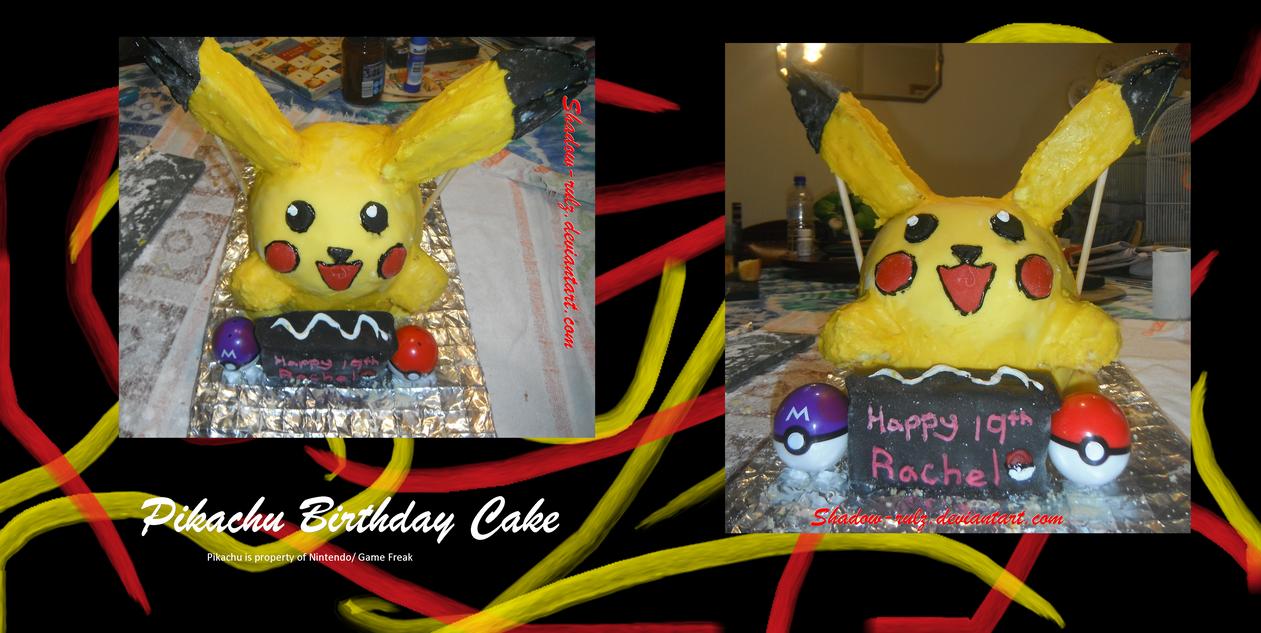 Pikachu Birthday Cake by Shadow-rulz