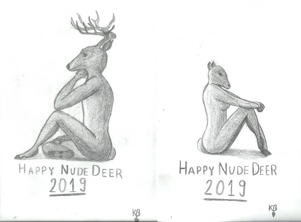 Happy Nude Deer 2019 (both)