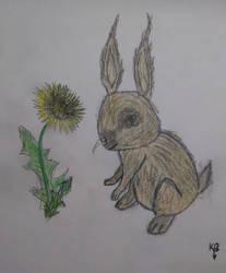 Rabbit in my style by Gash-ren