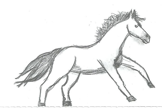 Running horse sketch by Gash-ren