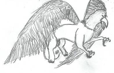 Gryphon sketch by Gash-ren