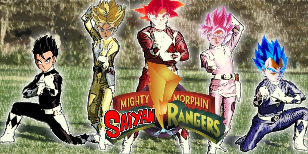 Mighty Morphin Saiyan Rangers by lordmogul