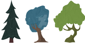 Trees - a style and lighting test