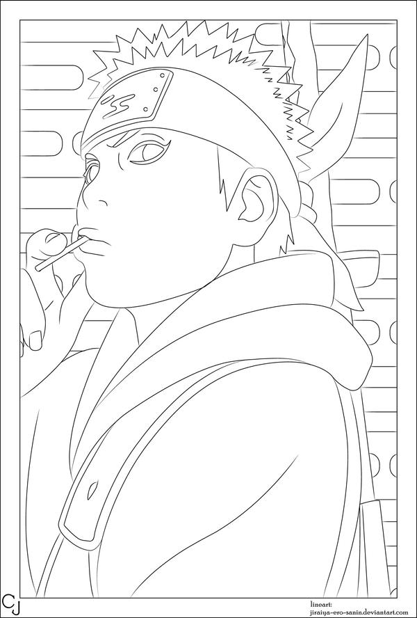 Naruto spoiler 452 lineart by jiraiya ero sanin on deviantart for Jiraiya coloring pages