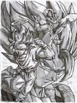 SSJ Goku Vegeta and Gogeta