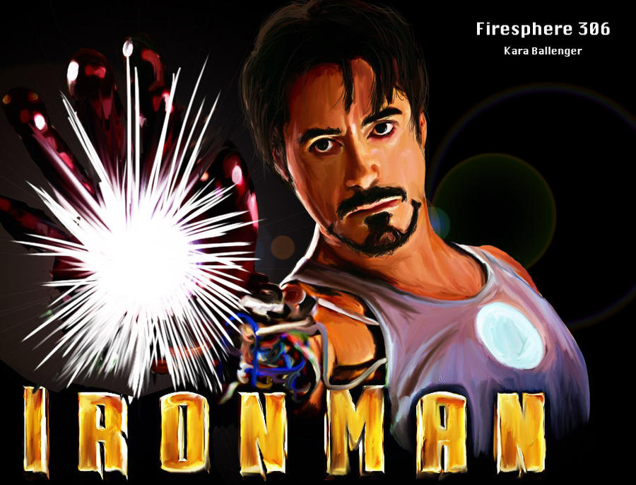 Iron Man Face Paint Iron Man Digital Painting by