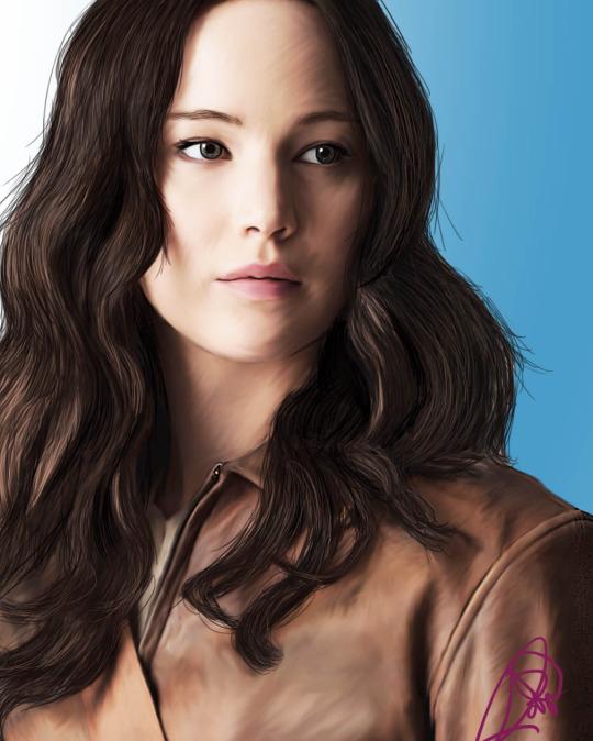 Mockingjay: Katniss Everdeen-Digital Painting by Firesphere306