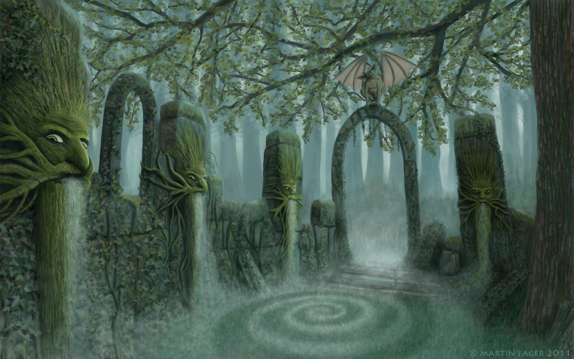 Green Man Ruins by runique
