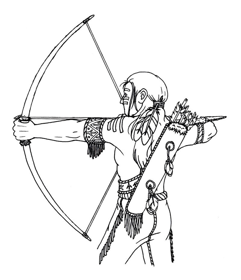 Line Art America : Native american lineart by magnum arts on deviantart
