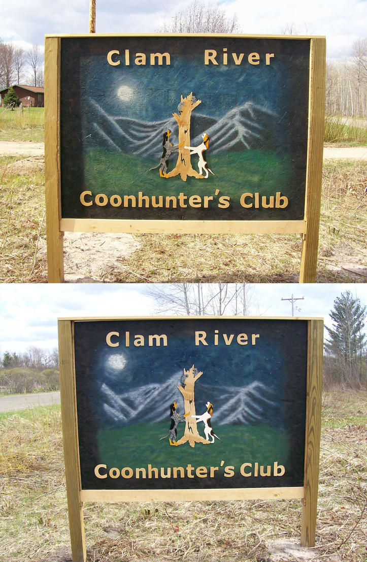 Clam River Coonhunters Sign by Magnum-Arts