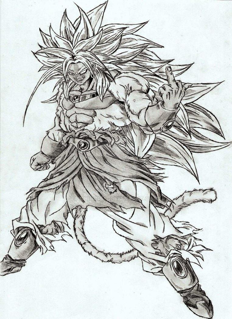 Broly Drawing By Chinoru