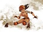 Roller derby girl by Gianpierre