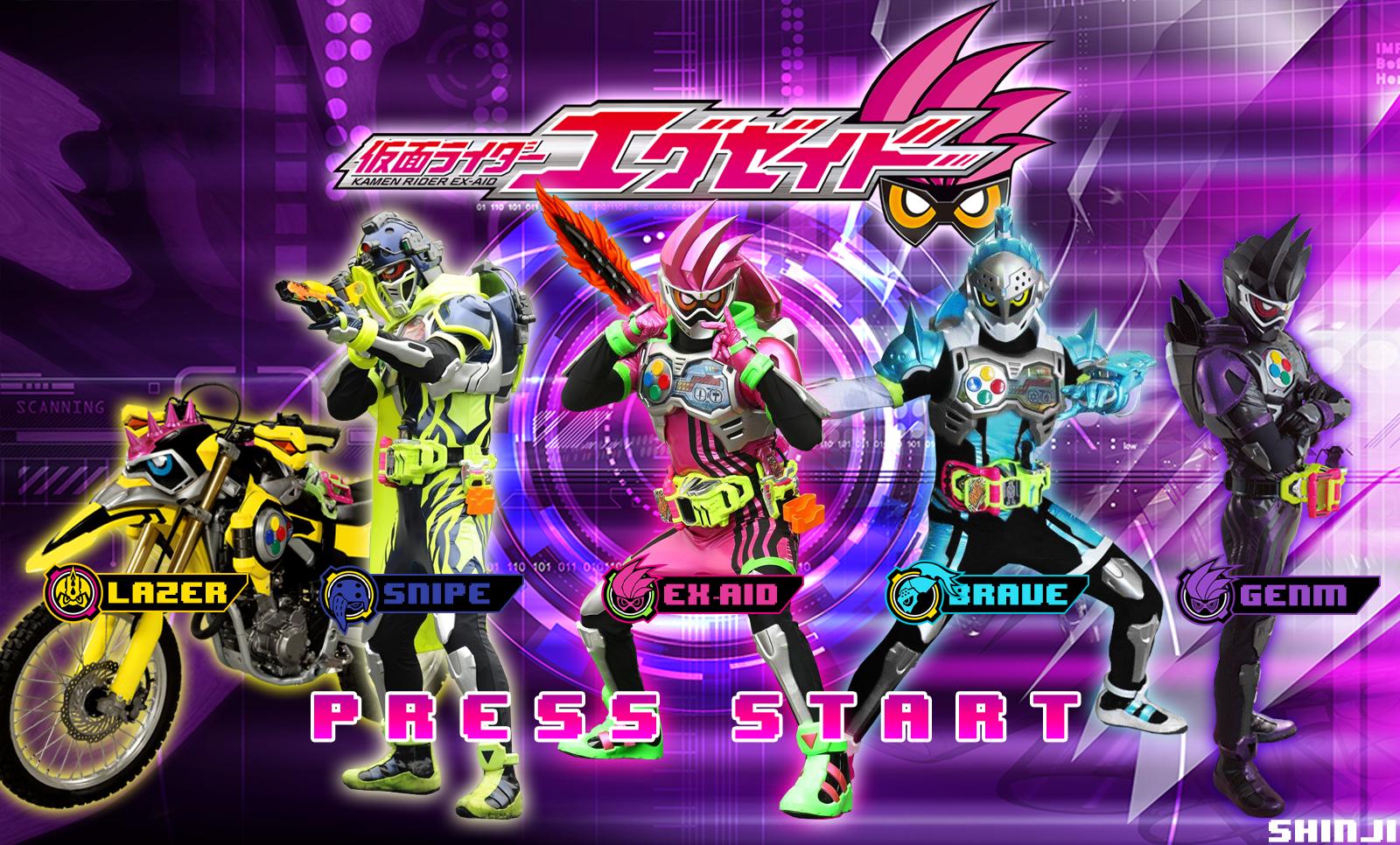Kamen Rider Ex-Aid - Brave - Snipe - Lazer - Genm by malecoc