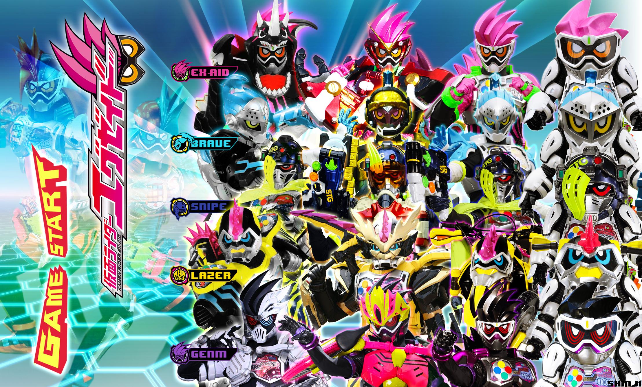 Kamen Rider Ex Aid Brave Snipe Lazer Genm Level Up By Malecoc On Deviantart