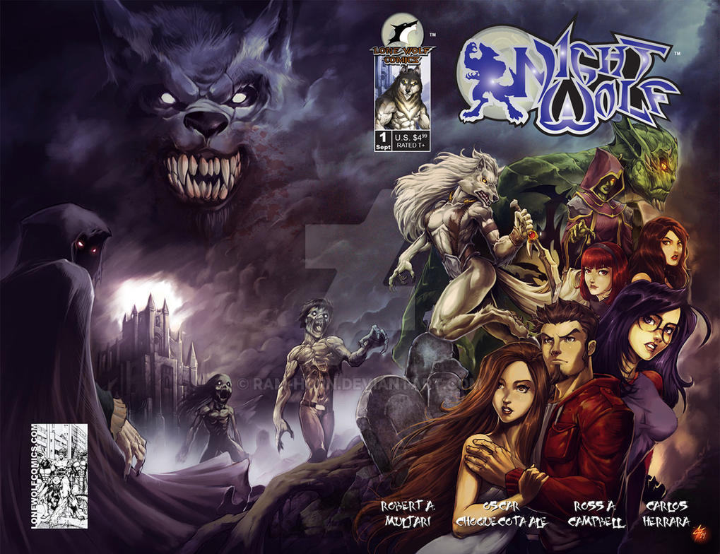 Night Wolf Comic Book Issue #1 Cover by RAM-Horn