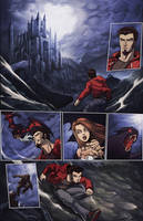Night Wolf Comic Book Issue #1 Page #1 Color by RAM-Horn