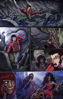 Night Wolf Comic Book Issue #1 Page #2 Color by RAM-Horn