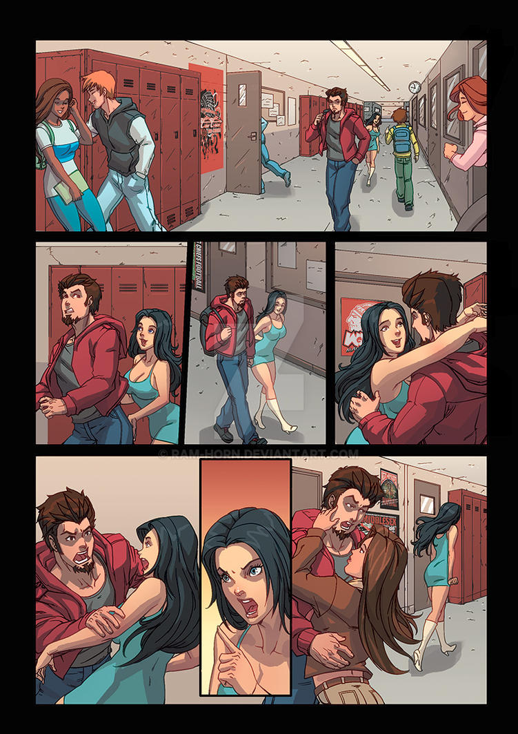 Night Wolf Comic Book Issue #1 Page 15 Colors by RAM-Horn