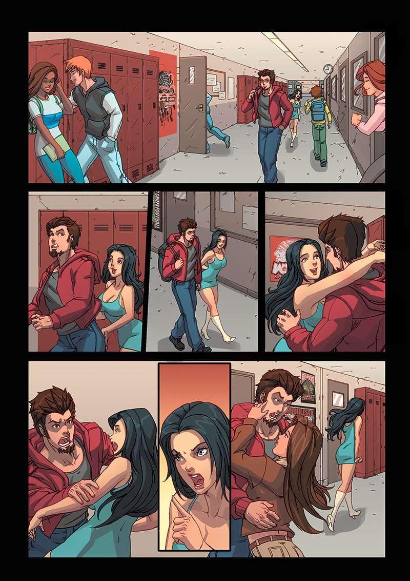 Night Wolf Comic Book Issue #1 Page 15 Colors