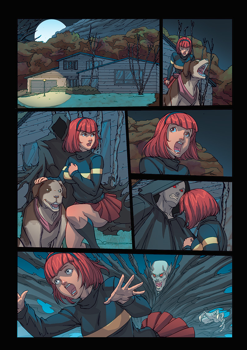Night Wolf Comic Book Issue #1 Page 16 Colors
