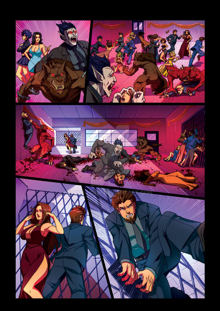 Night Wolf Comic Book Issue #2 Page 9 Colors by RAM-Horn