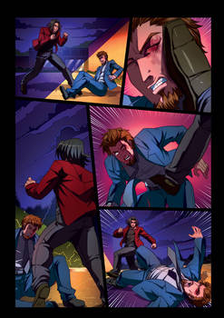 Night Wolf Comic Book Issue #2 Page 18 Colors