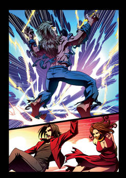 Night Wolf Comic Book Issue #2 Page 20 Colors