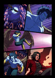 Night Wolf Comic Book Issue #2 Page 23 Colors