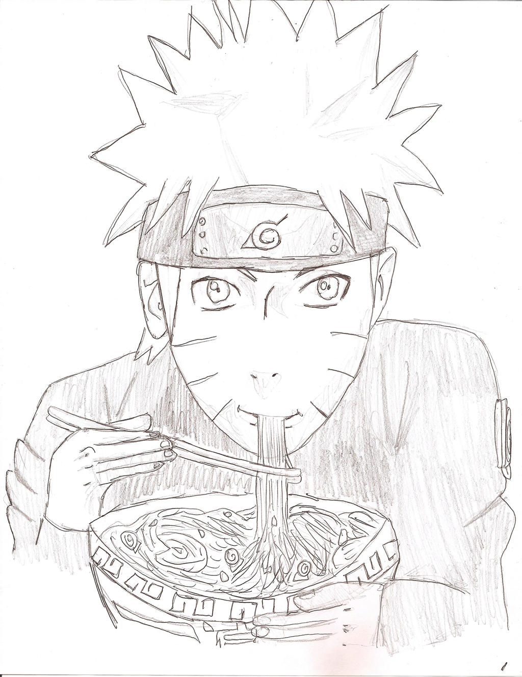 naruto eating ramen coloring pages - photo#26