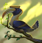 Great Hornbill by Mexus9