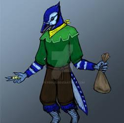 Zaffre the Blue jay Kenku rogue