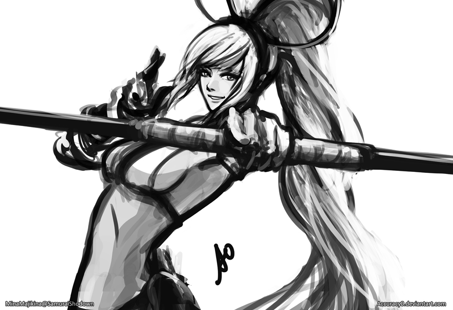 Mina Samurai Shodown by borjen-art