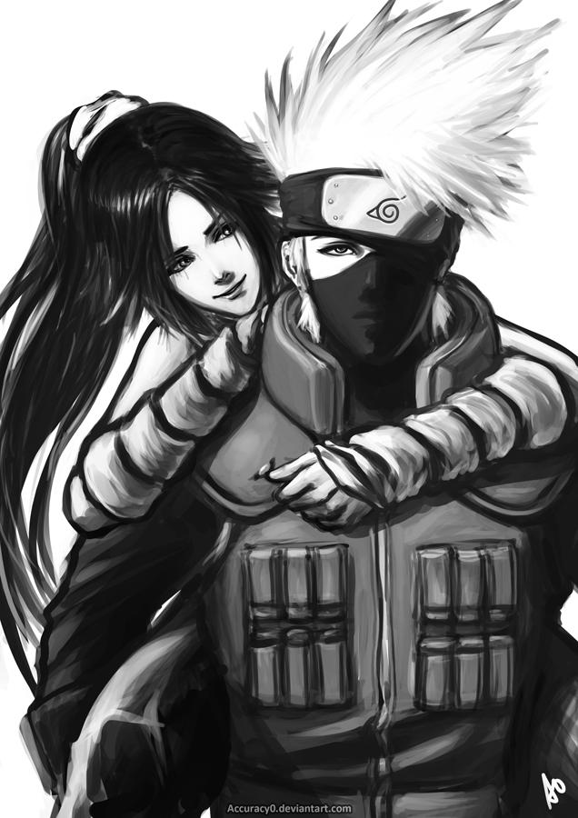 Kakashi and Yoruichi by Accuracy0