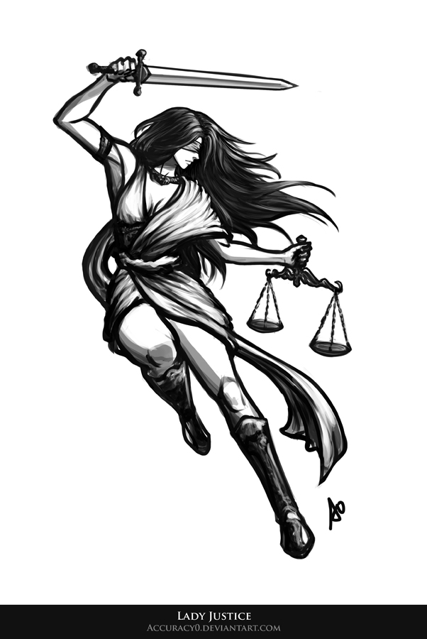 Lady justice by accuracy0 on deviantart for Scale meaning in art