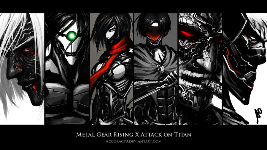 Metal Gear Rising X Attack On Titan Wallpaper By Borjen Art