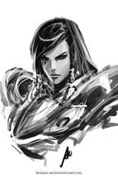 Pharah by borjen-art